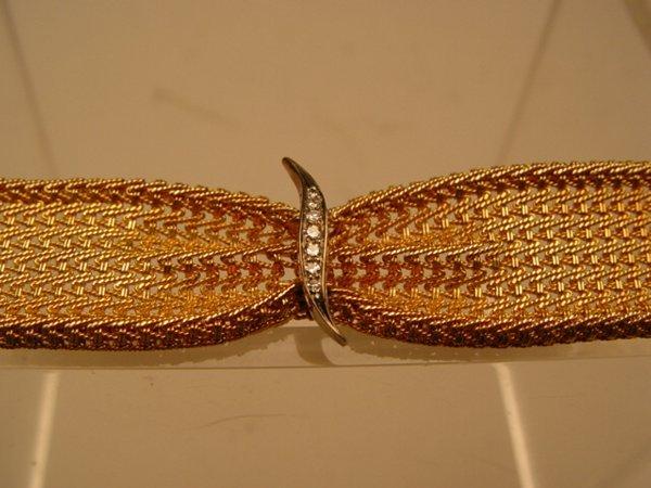 2003: 14k Gold & Diamond Mesh Bracelet