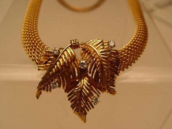2004: 14k Gold & Diamond Mesh Necklace