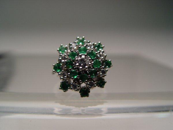 2010: 14k Gold, Diamond & Emerald Ring