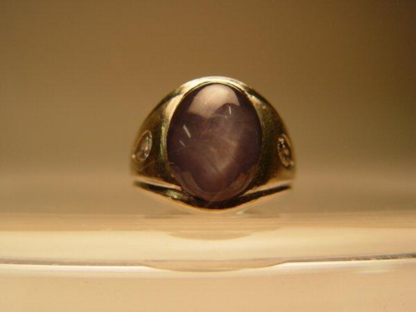 2011: 14k Gent's Star Sapphire & Diamond Ring