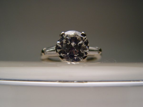 2012: White Gold Diamond Solitaire Ring