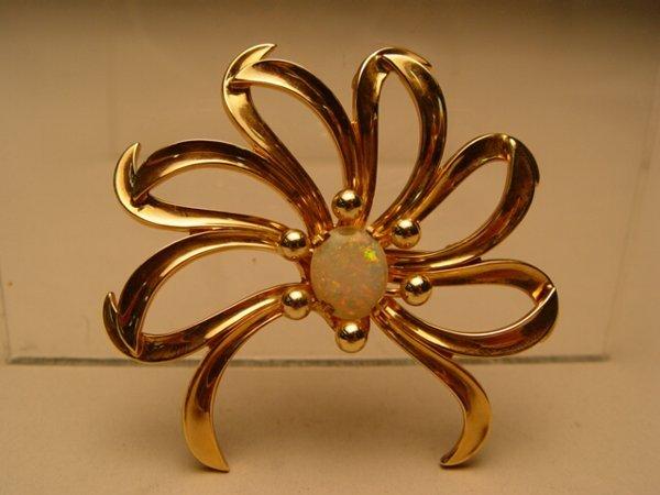 2017: 14k Gold & Opal Floral Pin