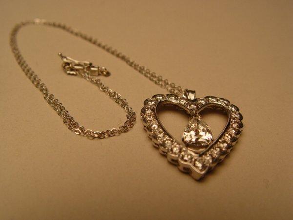 2020: 14k White Gold & Diamond Heart Pendant