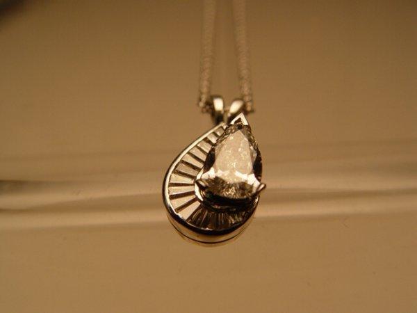 2021: White Gold & Diamond Pendant Necklace