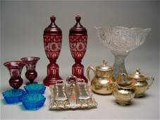2185 Collection of Miscellaneous Table Articles  Deco