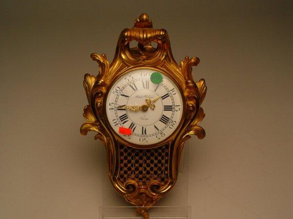2192: Louis XV-Style Gilt Metal Wall Clock