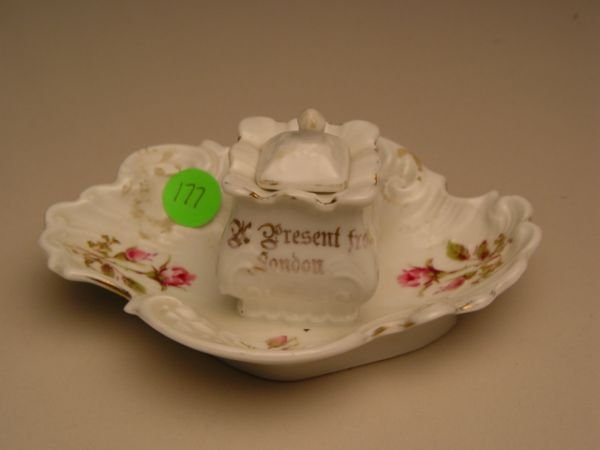 127: An English Porcelain Presentation Inkwell
