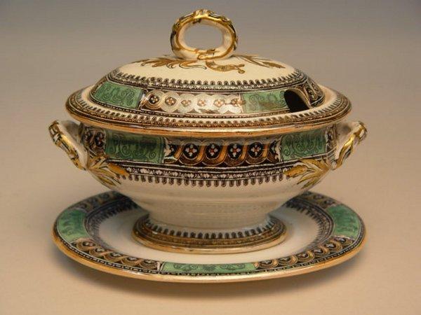 103: English Ironstone Etruscan Vases Tureen