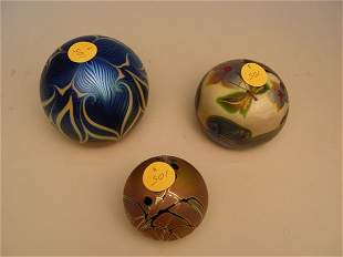 Two Orient & Flume Paperweights