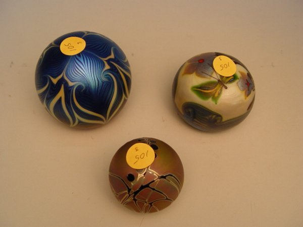 105: Two Orient & Flume Paperweights