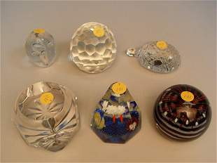 Group of Six Assorted Paperweights