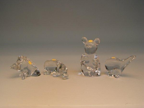 109: Baccarat Cyrstal Hippo & Pig Figurines