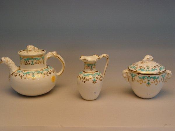 113: 3pc Minton Society of Arts Tea Set