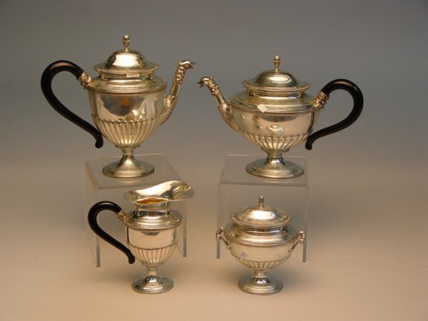 115: Italian Silver Tea & Coffee Set, Bellini