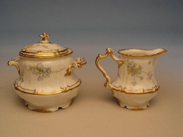 116: Haviland Limoges Cream & Sugar & French Porcelain