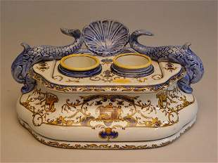 Collection of Continental Porcelain Table Articles