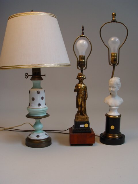 121: Group of Five Table Lamps