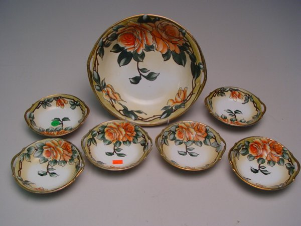 1032: Nippon Hand Painted Dessert Set