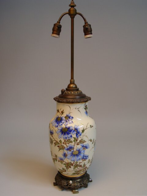 1026: Majolica Lamp for Keller & Guerin