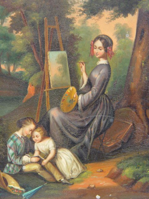 1017: Biedermeier Period Oil Painting