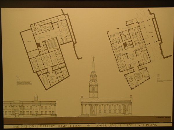 1014: Group of 3 Framed Architectural Floor Plans