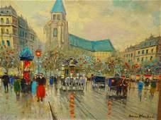 1278: Street Scene After Antoine Blanchard