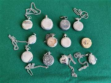 A Silver cased Pocket Watch along with a group of