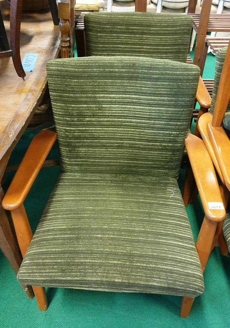 A set of four Retro Armchairs. (4)(4).