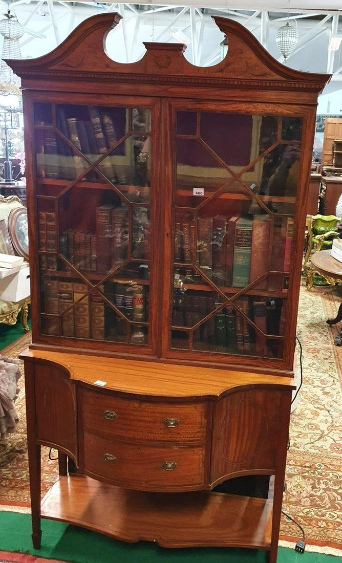 A 19th Century Satinwood Display Cabinet with glazed