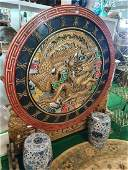 A highly painted Oriental Circular Stand with pierced