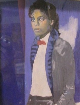 Kristine Byrne, 'Young Michael Jackson' Signed lower le