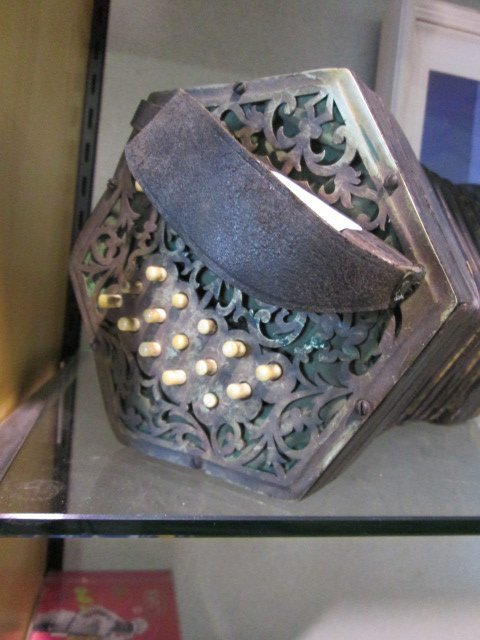 A C. Jeffries Concertina  with thirty-two bone buttons  - 2