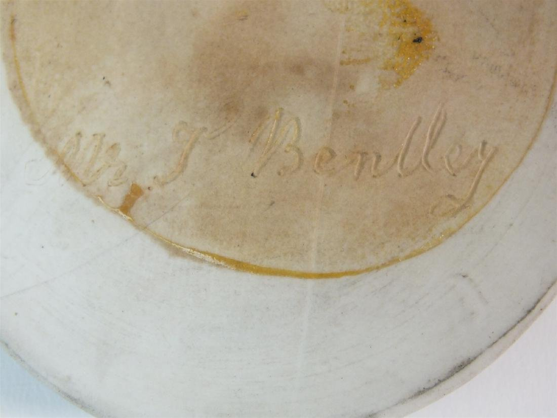 A Wedgwood green jasperware plaque of Thomas Bentley - 4