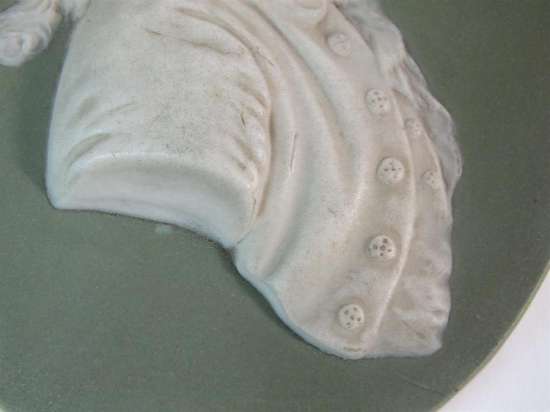 A Wedgwood green jasperware plaque of Thomas Bentley - 6