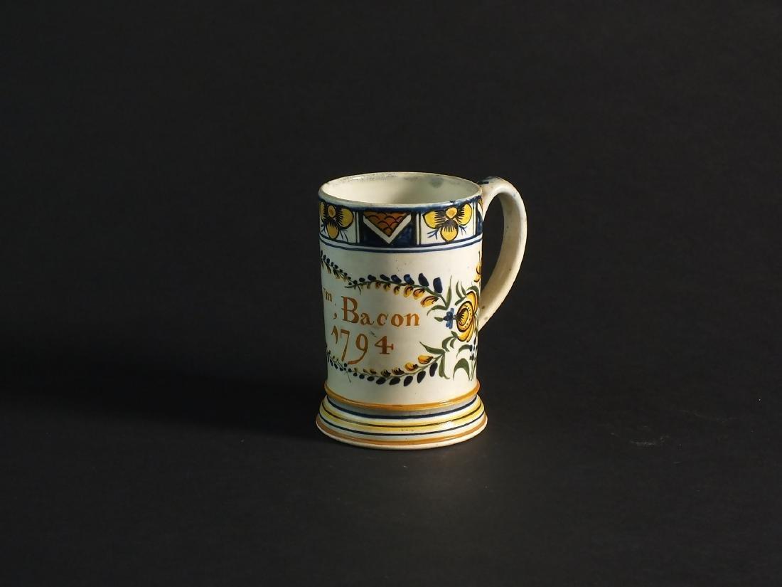 An English dated prattware mug