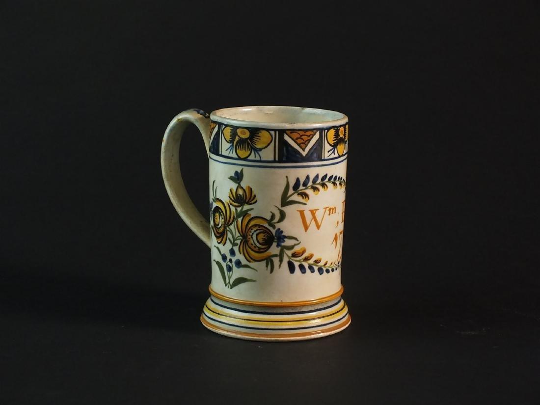 An English dated prattware mug - 3