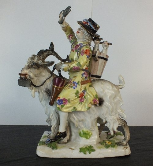 A Meissen porcelain figural group, a late 19th century