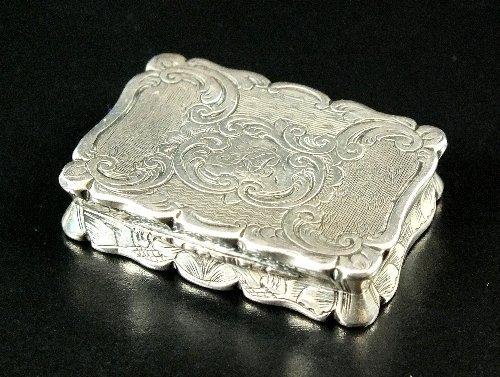 A Victorian silver vinaigrette, Yapp & Woodward,