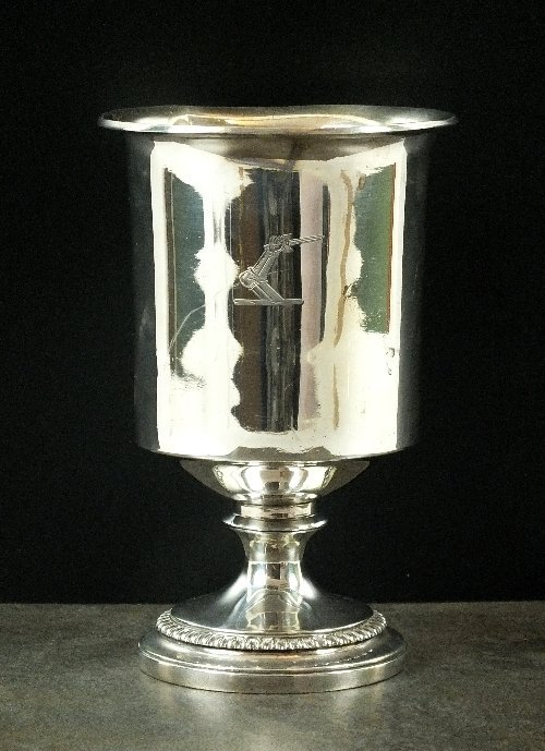 A George III silver goblet, Rebecca Emes & Edward