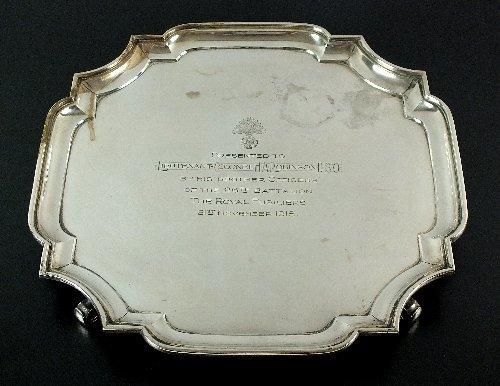 A Goldsmiths & Silversmiths Co Ltd silver salver,