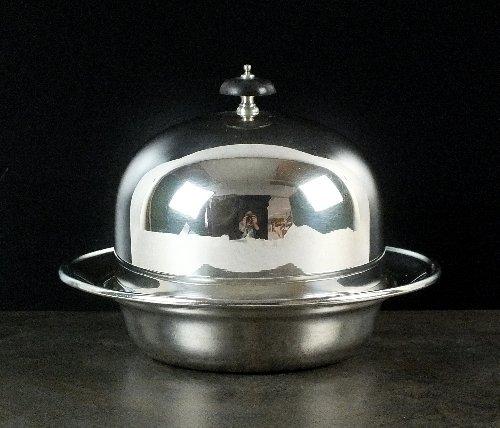 A silver muffin dish and cover, William Hutton & Sons