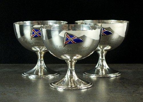 Three silver goblets, Robert Pringle & Sons, London