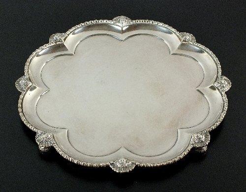 An Edwardian Harrods silver salver, Richard Burbridge
