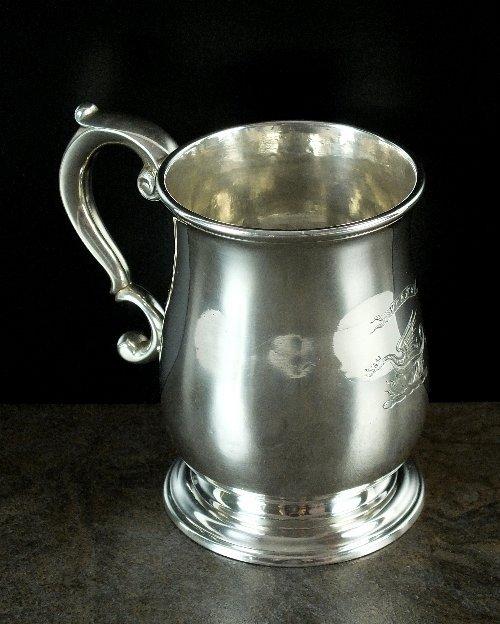 A George II Newcastle silver mug, Issac Cookson,