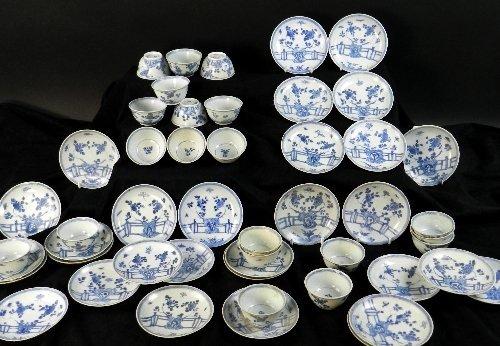 Ca Mau:Thirty rocks on a terrace pattern tea bowls and