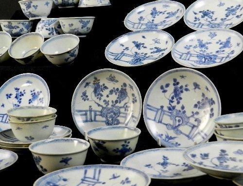 Ca Mau: Thirty rocks on a terrace pattern tea bowls and