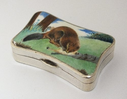 A silver and enamel snuff box, S Blanckensee & Sons