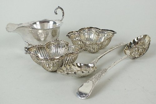A pair of George III silver tablespoons, Peter &