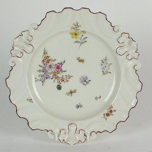 A Chelsea porcelain silver shaped plate, circa 1750,