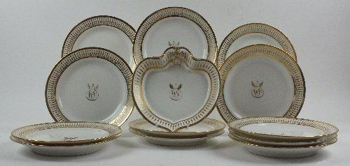 A Paris (La Courtille, Locre) porcelain part dessert